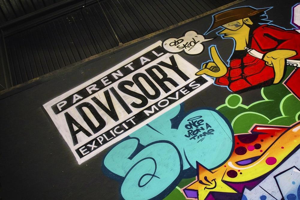 Roller Planet muur graffiti - advisory
