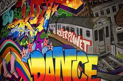 De coolste graffiti op de graffitiwand bij Roller Planet Amsterdam